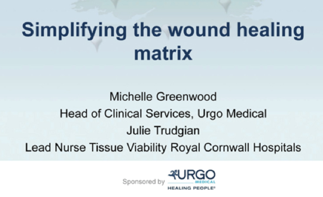 Simplifying the wound healing matrix