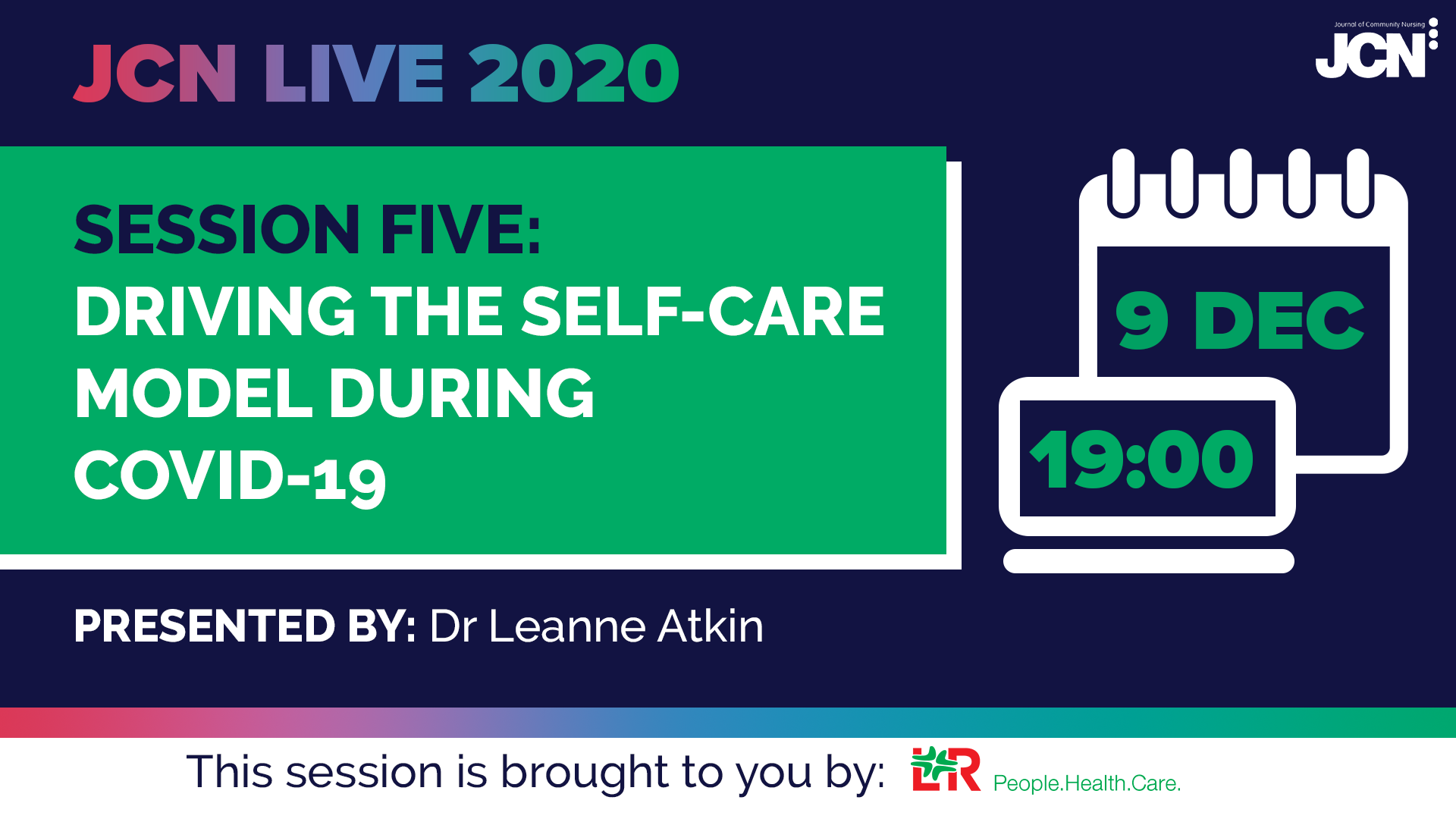 JCN Live 2020: Driving the self-care model during Covid-19