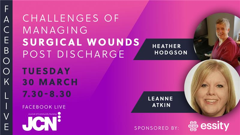 Facebook Live: Challenges of managing surgical wounds post discharge