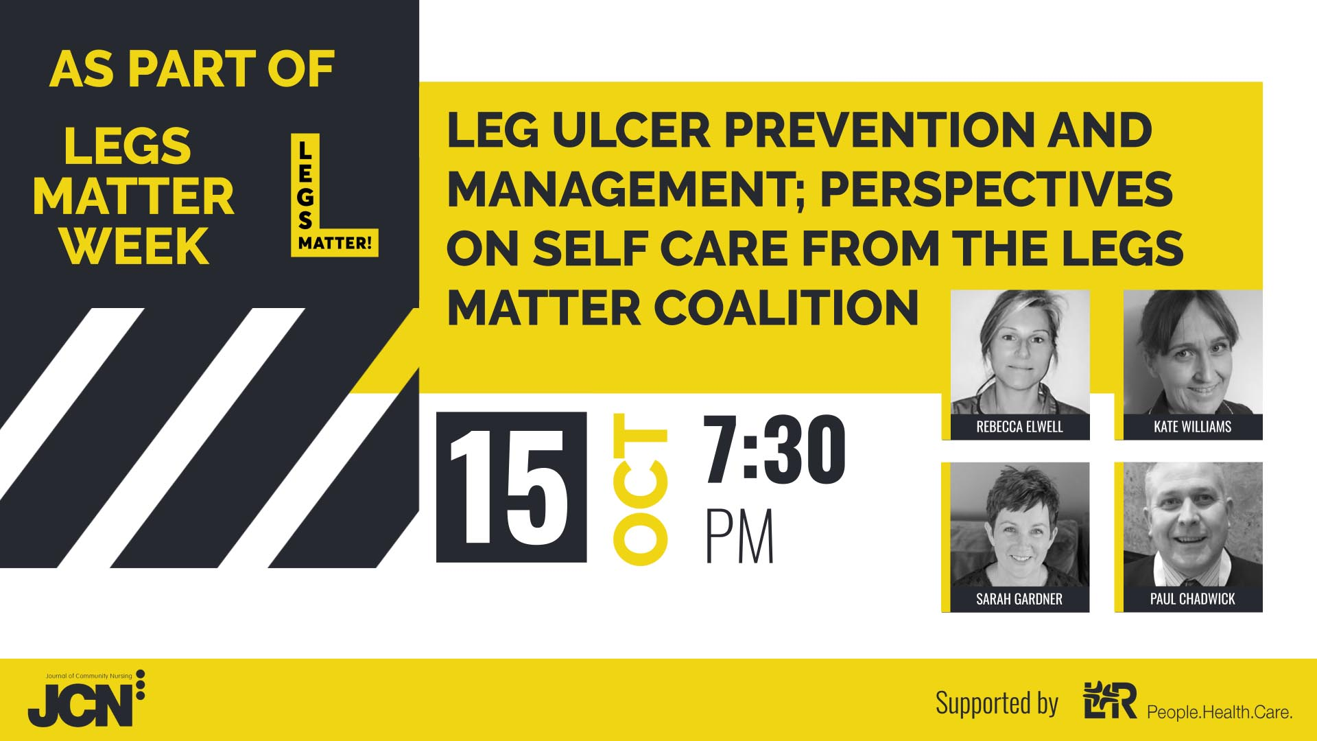 Facebook Live: Leg Ulcer prevention and management; perspectives on self care from the Legs Matter Coalition