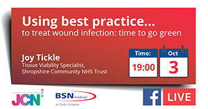 Facebook Live: Using best practice to treat wound infection: time to go green