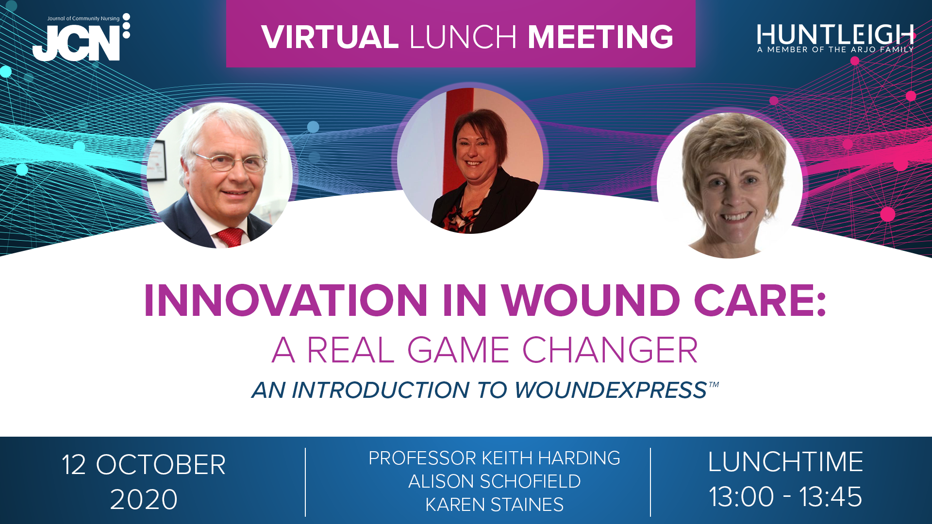 Virtual Lunch Metting: Innovation in wound care - a real game changer. An introduction to Wound Express