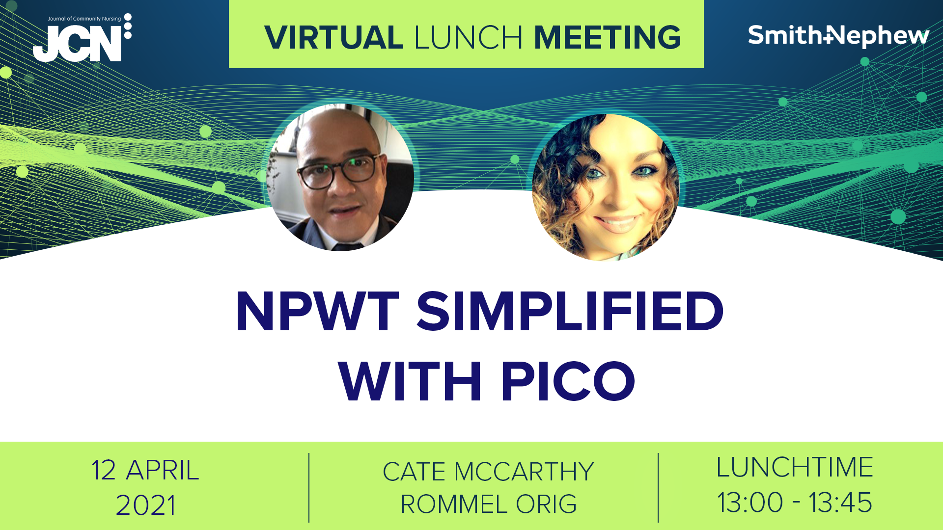 Virtual Lunch Meeting: NPWT simplified with PICO