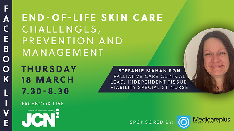 Facebook Live: End-of-life skin care - challenges, prevention and management