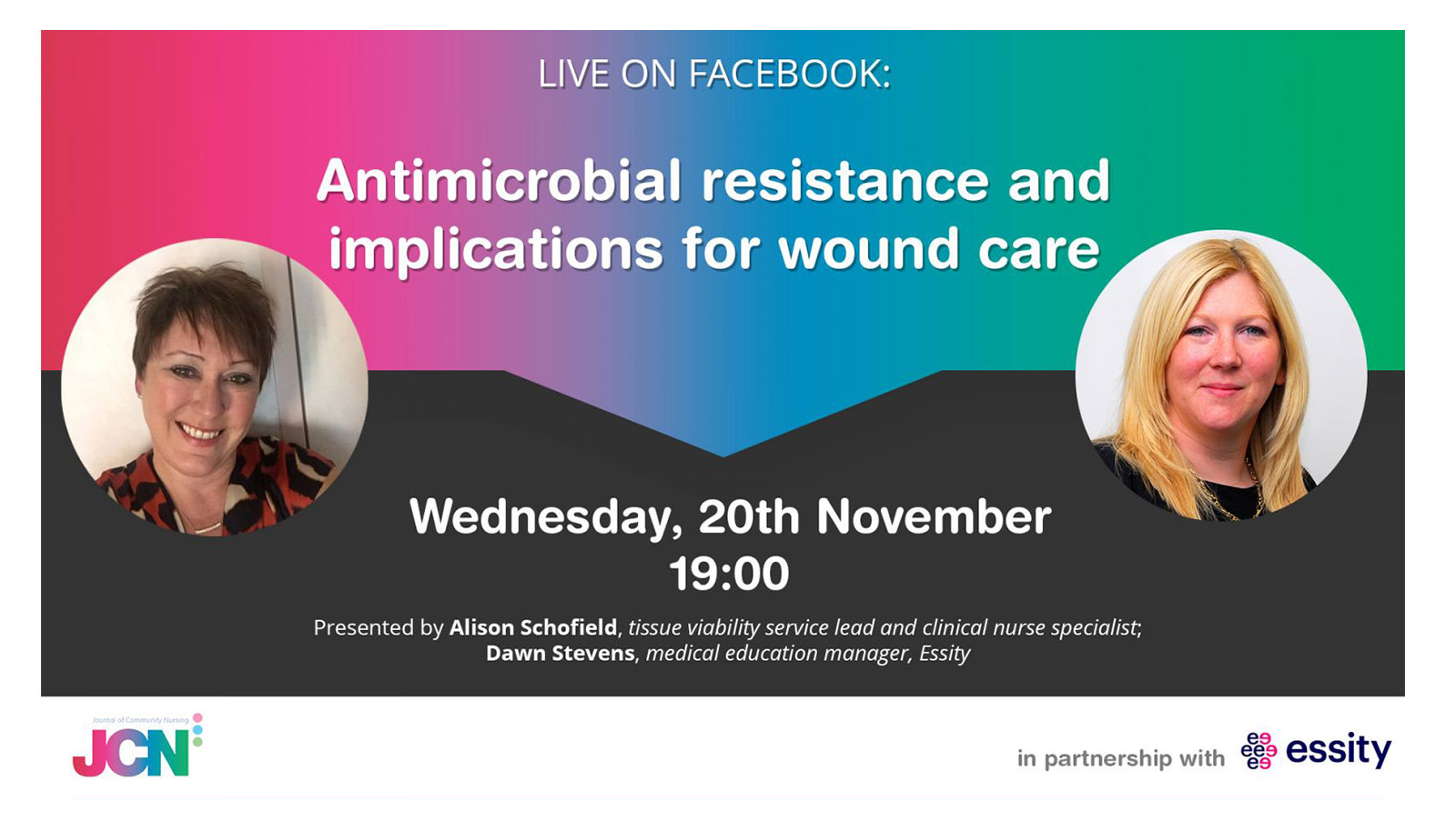 Facebook Live: Antimicrobial resistance and implications for wound care