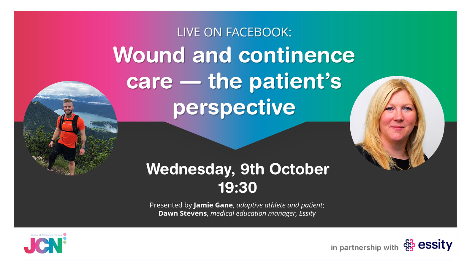 Facebook Live: Wound and continence care: A patient's perspective