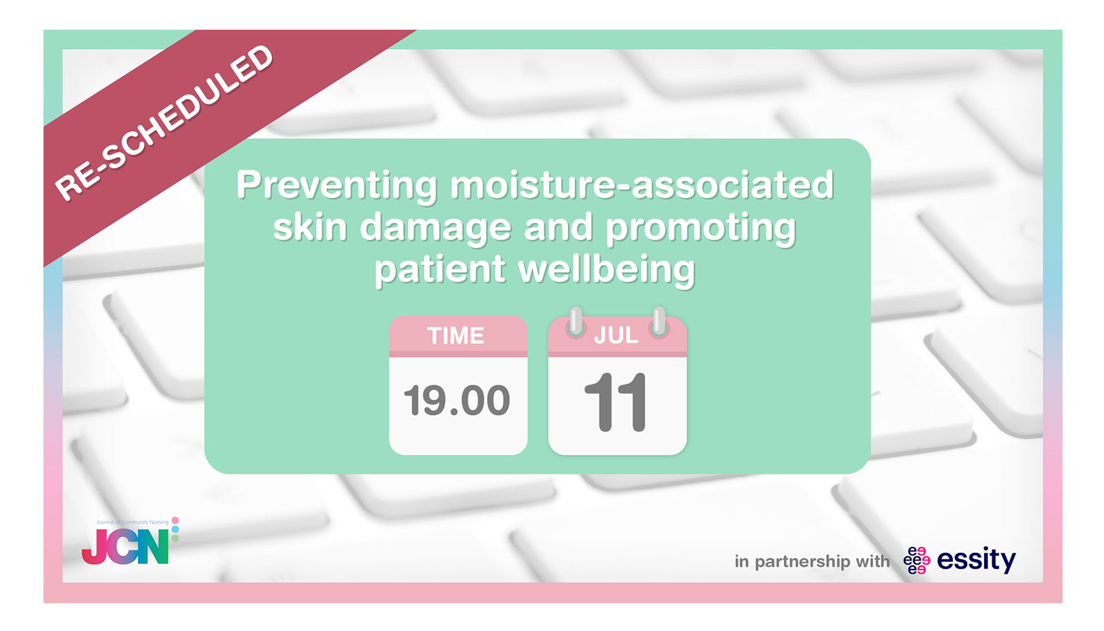 Facebook Live: Preventing moisture-associated skin damage and promoting patient wellbeing