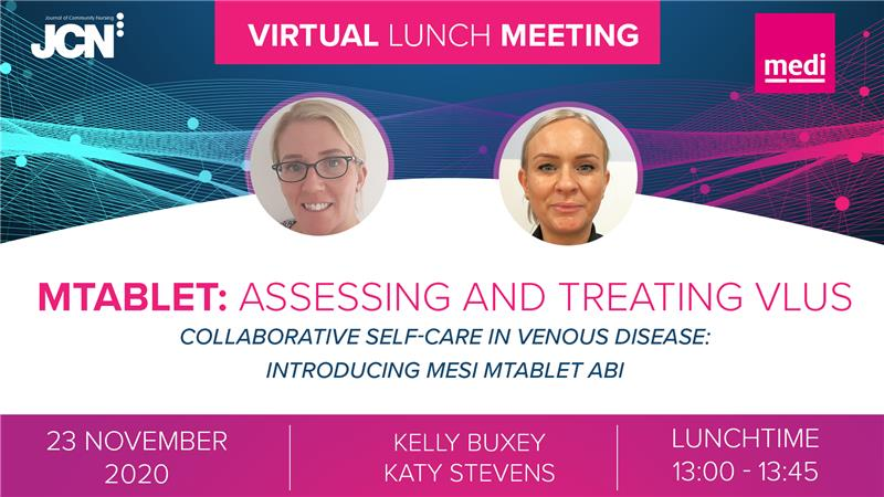 Virtual Lunch Meeting: mTABLET: assessing and treating VLUs