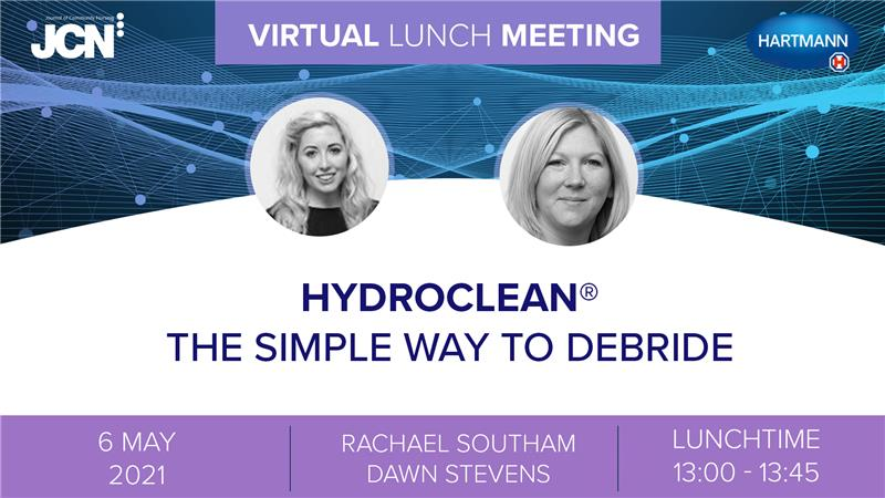 Virtual Lunch Meeting: HydroClean<sup>®</sup> the simple way to debride